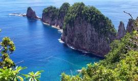 Americká Samoa neleží na žádném z amerických států, přesto je součástí Ameriky