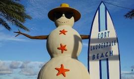 Floridu na Vánoce zahřeje slunce na 25 stupňů