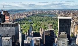 Městské parky v New York City: dnes skrývají obří kouli, dříve nebezpečné indiány