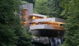 Fallingwater: Dům v Pensylvánii, kterým protéká vodopád