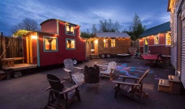 Vyzkoušejte si bydlení v hotelových karavanech v umělecké čtvrti Portlandu