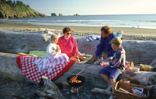 Piknik v přírodě USA
