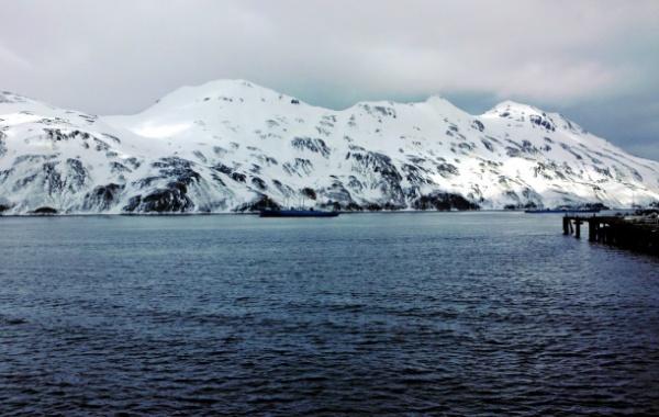 Zasněžené hory na Aljašce