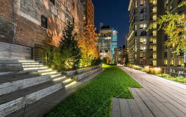 High Line v Chelsea v New Yorku