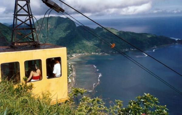 Kabinová lanovka v Americké Samoe