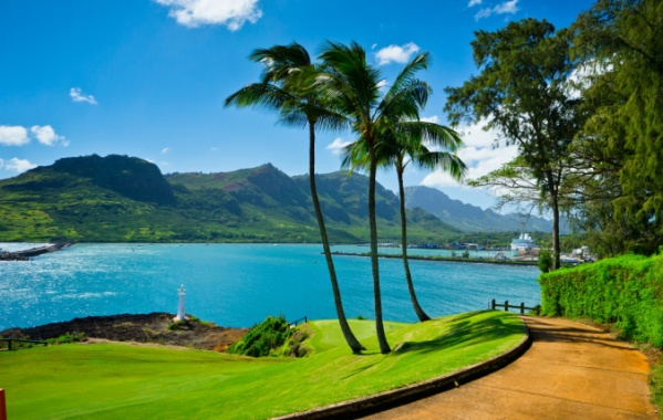 Pláž Nawiliwili na Havaji