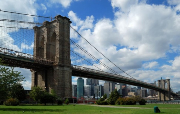 Brooklynský most v létě