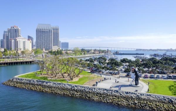 Pobřeží San Diega v USA