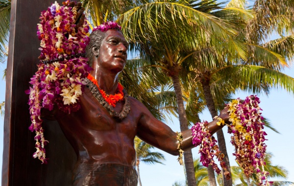 Honolulu - socha Duke Kahanamoku