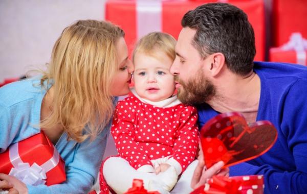 Rodina slavící Valentýna