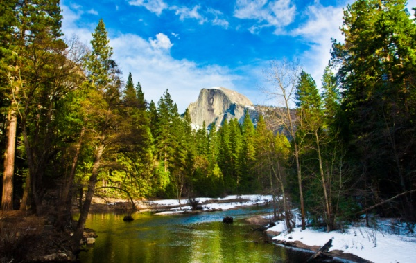 skála Half Dome Rock v americké Kalifornii