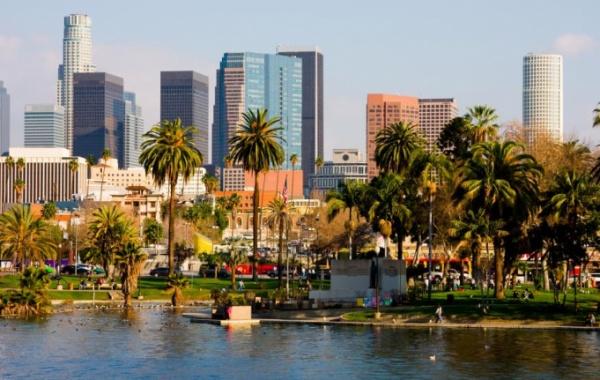 Los Angeles v Kalifornii na západě USA.