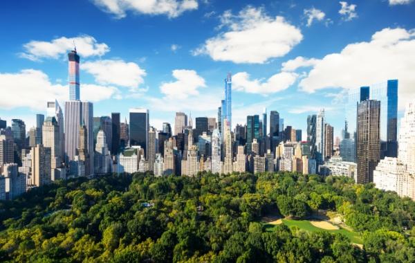 Manhattan - panorama s Central Parkem