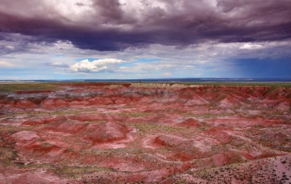 Painted Desert pod mraky