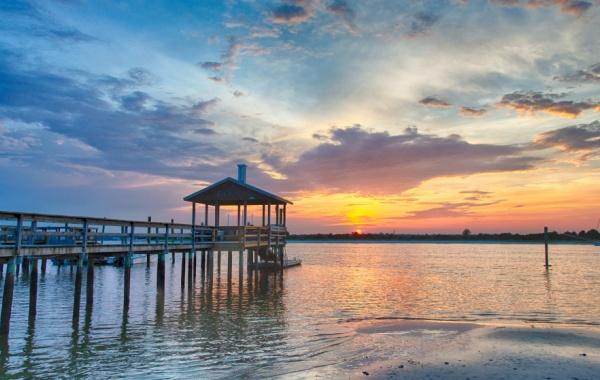 Wrightsville Beach, Severní Karolína, USA