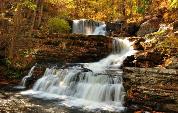 Upper Falls - vodopády ve státě Delaware