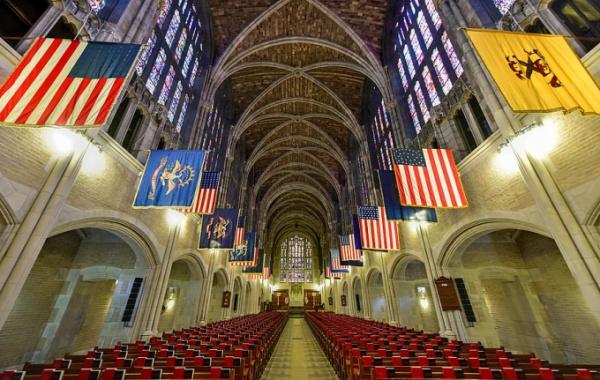 Interiér vojenské školy West Point