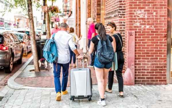 Rodina cestující po Americe