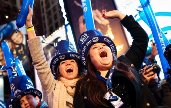 Silvestrovské oslavy na Times Square - New York