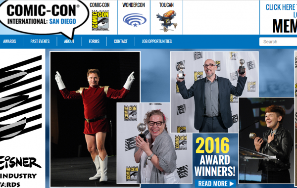 Comic-con website