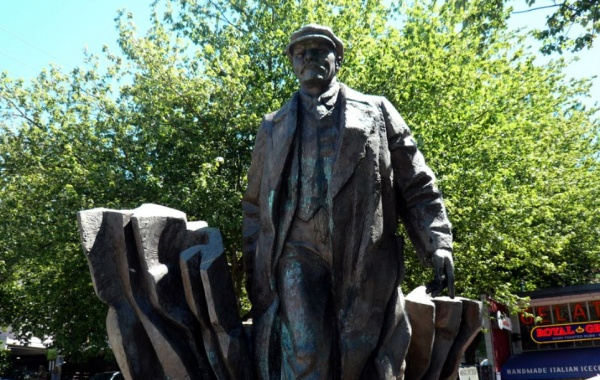 Leninova socha v americkém Seattlu