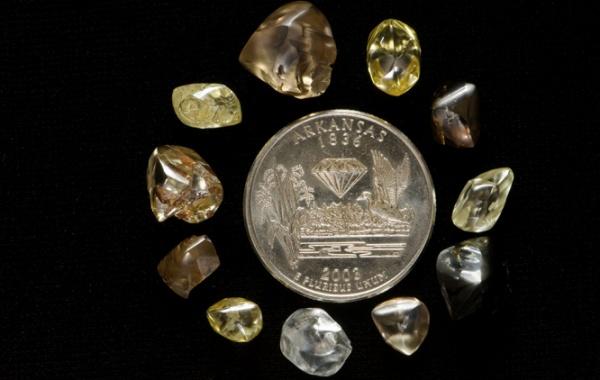 Diamanty z dolu v Arkansasu.
