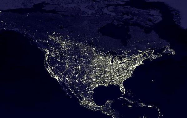Letecký snímek Ameriky