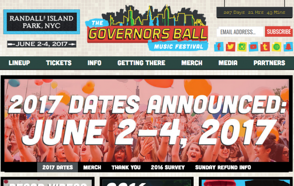 Governors Ball v New York City