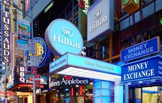 Legenda mezi legendami: Hilton na Times Sqare.