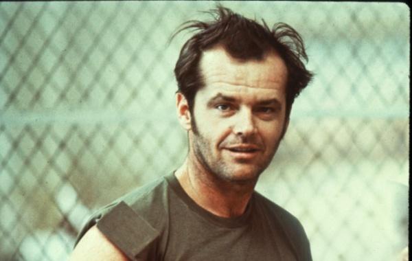 Jack Nicholson při natáčení Přeletu nad kukaččím hnízdem