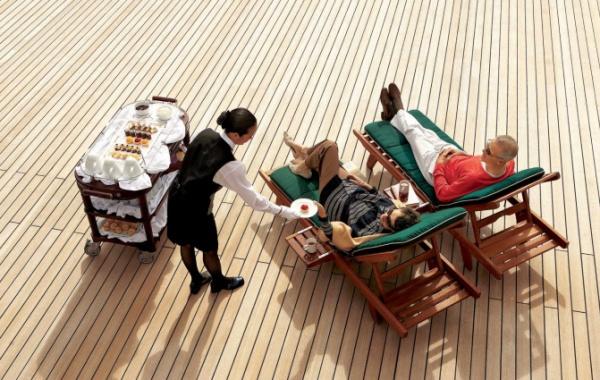 Jídlo na lodi Queen Mary