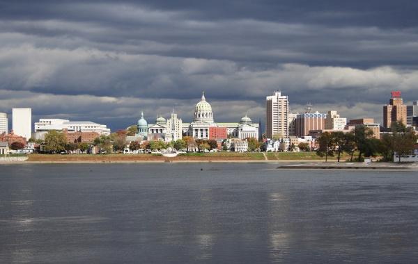 Historické město Harrisburg v Pensylvánii