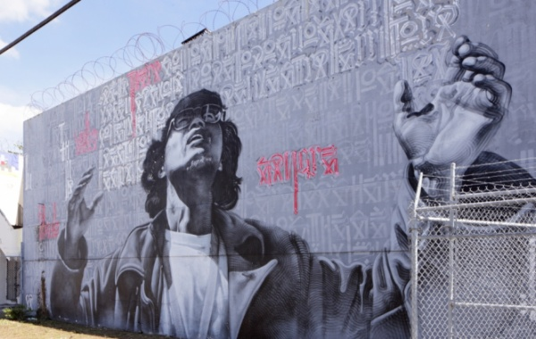 Graffiti ve Wynwood Walls v Miami