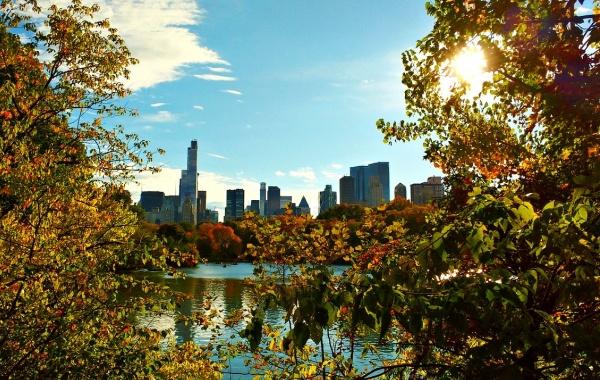 Klasický podzimní výhled na NY