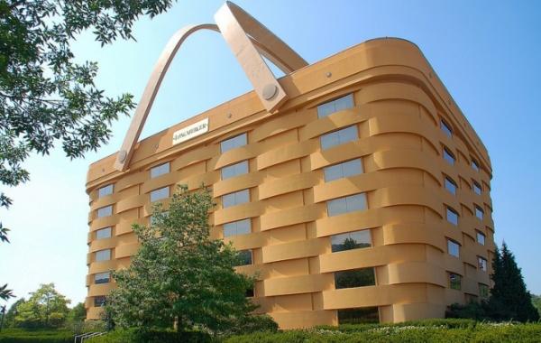 Budova ve tvaru nákupního košíku v Ohiu