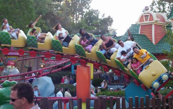 Horská dráha v Disneylandu