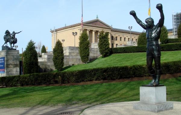 Filadelfie Rockyho socha