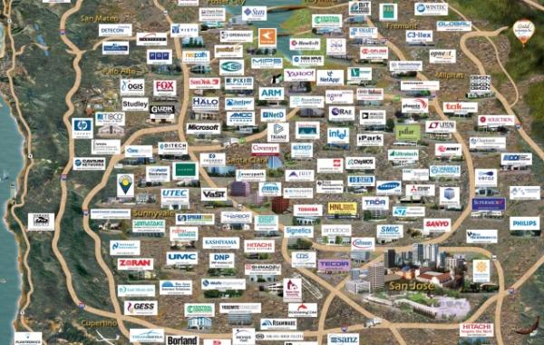 Silicon Valley - mapa