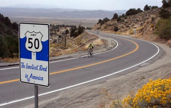 The Loneliest Road, západ