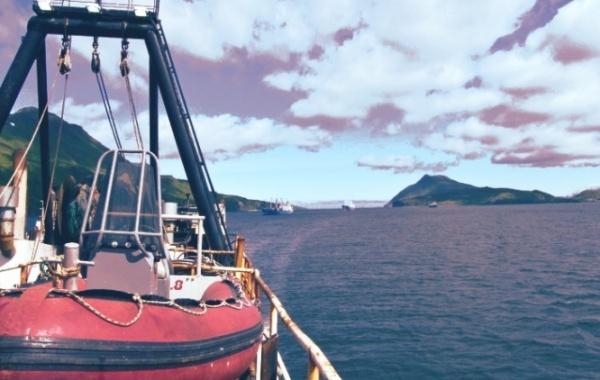 Loď na Aljašce