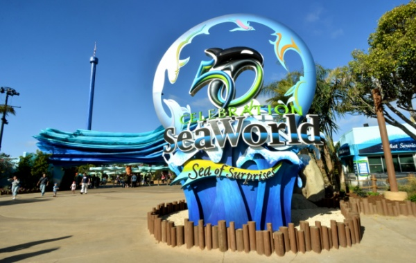Vstup do SeaWorld v San Diegu