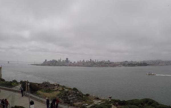 Pohled na San Francisko z ostrova Alcatraz