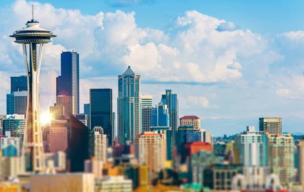 Pohled na mrakodrapy v městě Seattle, Washington - Amerika.cz
