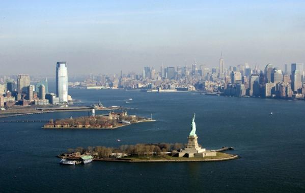 New York - pohled na záliv z ptačí perspektivy