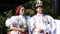 Slovácké kroje na festivalu v Nebrasce