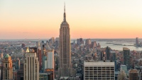 Empire State Building při západu slunce