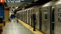Metro v New Yorku při svém denním provozu.