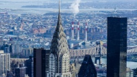 Chrysler Building v NY je 9. nejvyšší stavbou v USA.