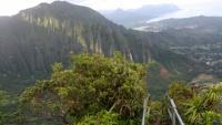 Schody Haiku na Oahu na Havajských ostrovech