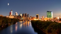 Filadelfie západ slunce